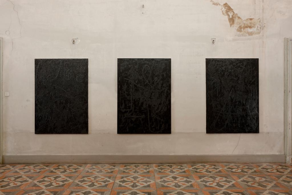 017. Jana Schroeder Spontacts CH S1 S2 S3 - 2014 - oil on canvas - 140x100 - courtesy AplusB Brescia