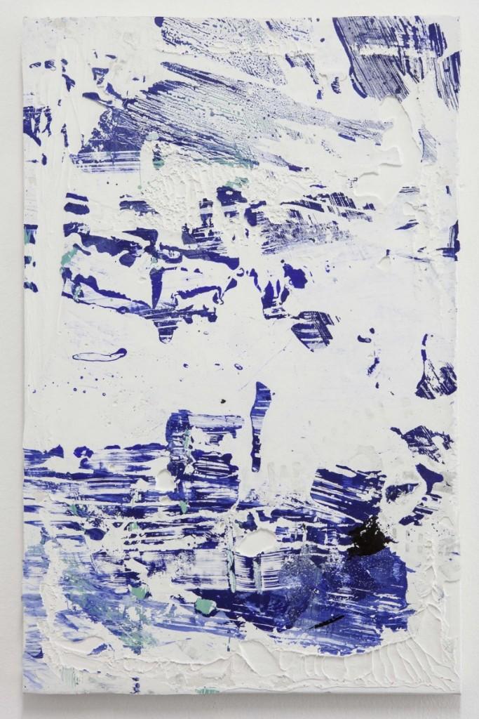 Tiziano Martini, ST 2015, pittura acrilica, primer ed emulsione acrilica, sedimenti pittorici, sporcizia, imprimitura acrilica, 60x40cm