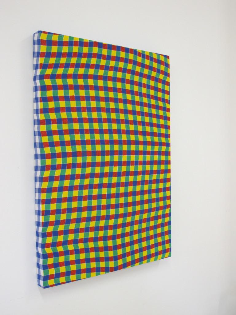 DMZ, untitled, 2016, acrilico su tovaglia stampata, 160x120cm