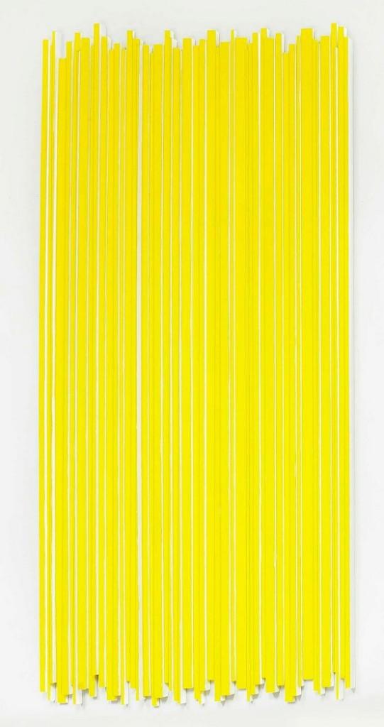 Stephanie Stein, Problem Y, 2013, legno di balsa, gouache, 108 x 52 x 1,5 cm_555x1050