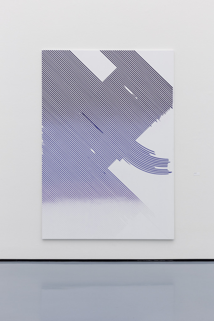 Tiziano Martini, installation view, 2012, acrylic paint and dirt on canvas, 260x180 cm