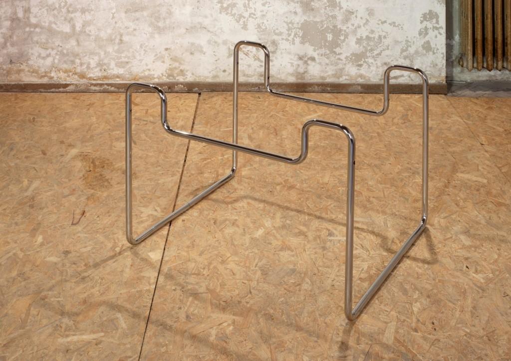 Tobias Hoffknecht,Untitled, 2014, steel, 60 x 80 x 90cm