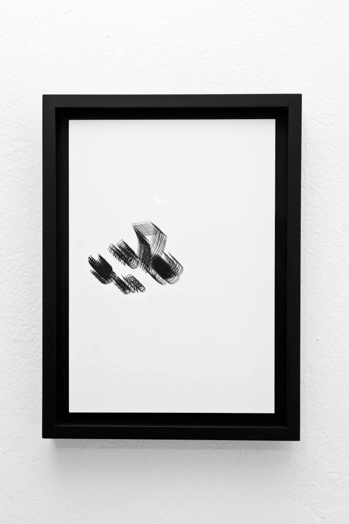 "Silvia Hell, O DAM 26 : 2'36"" VRS, 2014, inkjet print su carta cotone in cornice a cassetta nera, 34x25x4 cm"