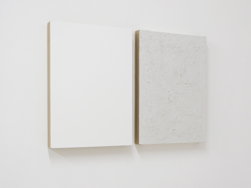 DMZ, untitled, 2016, imprimitura e sporcizia su tela, 70x50cm each