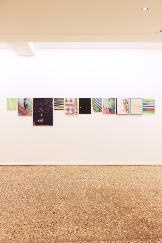 tiziano martini, untitled, 2013, 11 canvases, oil and acrylic paint, spray paint, foundet objects, old canvas, artist frames, variable dimensions
