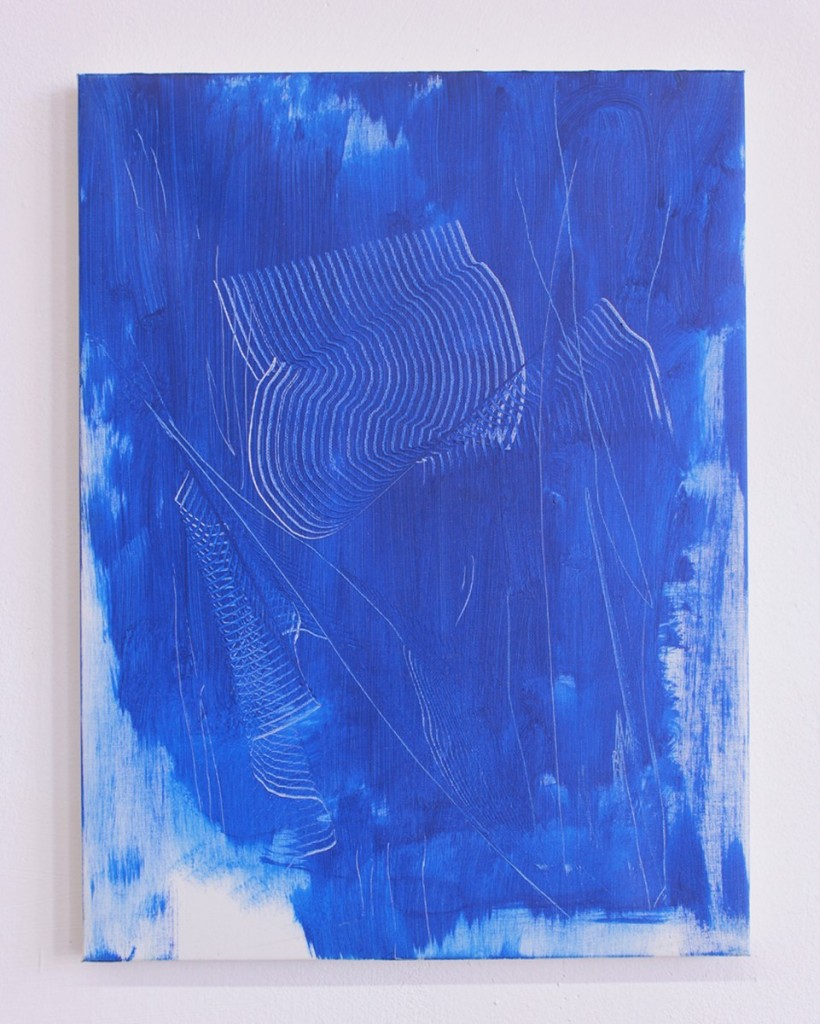 tiziano martini untitled, 2011, acrylic and scratches on canvas, cm 40x30