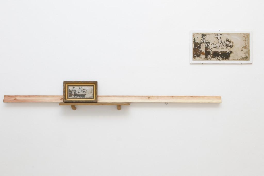 08 Marco Gobbi, Far from what once was, quadro trovato, legno di cirmolo, olio su tavola, metallo, dimensioni variabili, 2014. A+B Brescia